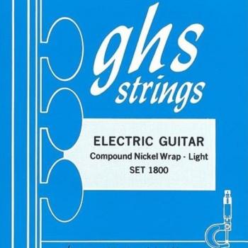 GHS1800 Set Electric Guitar Compound Nickel Wrap-Light