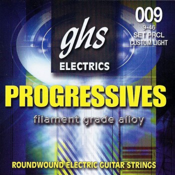 GHS PRCL Set Roundwound Electric Guitar Strings Custom Light