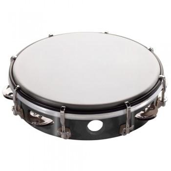 Stagg 8 inch Plastic Tambourine - Black