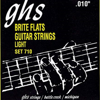 GHS 710 Set Brite Flats Guitar Strings Light