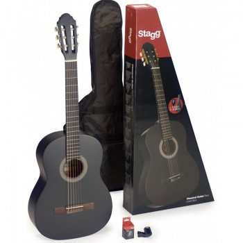 Stagg C440 Full Size Classic Guitar Package - Black