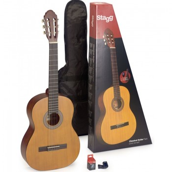Stagg C440 Full Size Classic Guitar Package - Natural