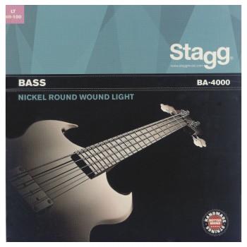 Stagg BA-4000 4-STR BASS SET/NI RND WD/LT
