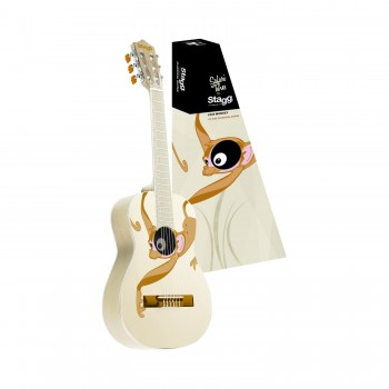 Stagg C505 White Monkey Classic Guitar