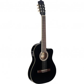 Stagg C546TCE Electro Acoustic Classical Guitar Black