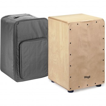 Stagg Medium-Sized Birch Cajon -Natural finish Front Board