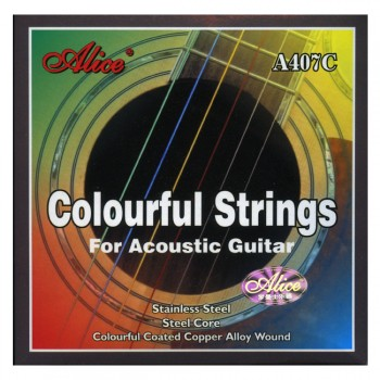 Alice A407C Acoustic Guitar Colourful Strings