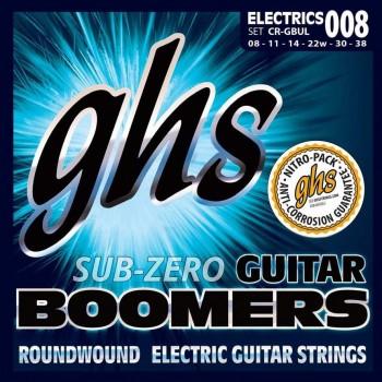GHS CR-GBUL Set Sub Zero Boomers Roundwound Electric