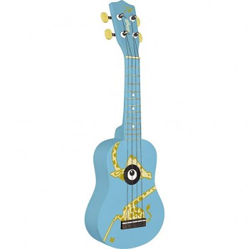 Stagg Traditional Soprano Ukulele with Giraffe Graphic