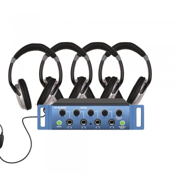 HP4 studio headphones system bundle
