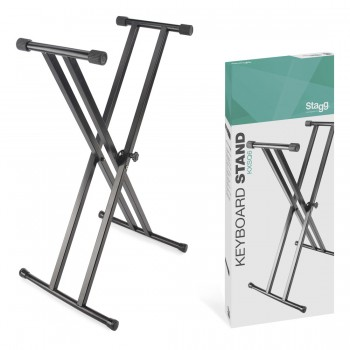 Double Braced X-Style Keyboard Stand - Welded