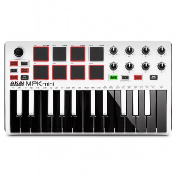 Akai MPK Mini MKII White keyboard