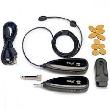 Stagg Beige Wireless Headset Microphone Set