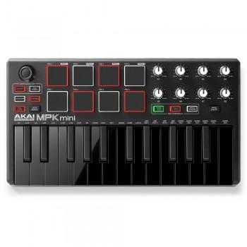 Akai MPK Mini MKII black on black keyboard