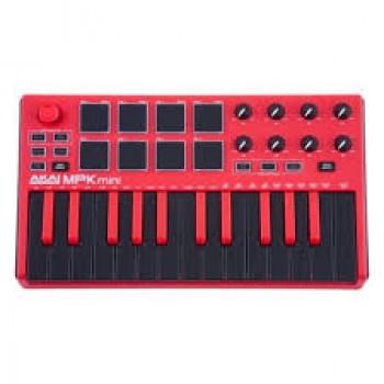 Akai MPK Mini MKII Red keyboard