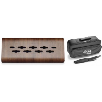 Stagg Wood Mini Effects Pedal Board with Carrying Bag