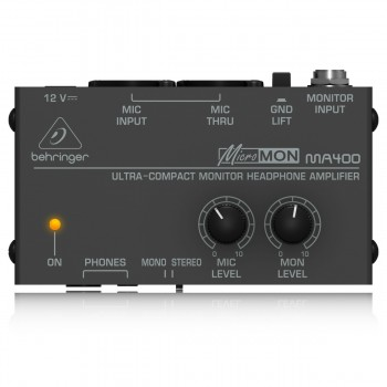Behringer MicroMON MA400 1-Ch Monitor Headphone Amplifier