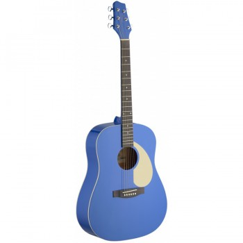Stagg SA30D Acoustic Dreadnough Guitar - Matte Blue
