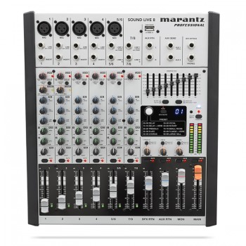 Marantz Sound Live 8 8-Channel / 2-Bus Tabletop Mixer