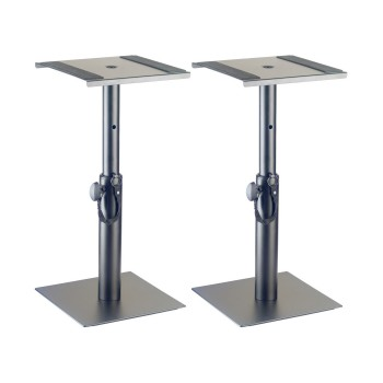 Stagg Two Height-Adjustable Monitor or Light Stands (short)