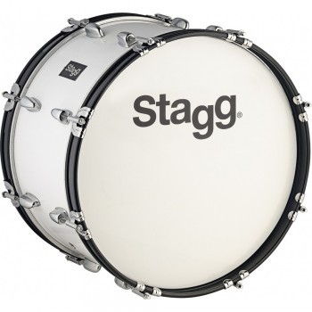 Stagg MABD-2612 26 x 12-Inch Marching Bass Drum - White