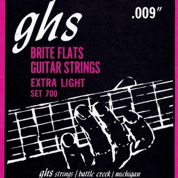 GHS 700 Brite Flats Electric Guitar Strings Extra Lite