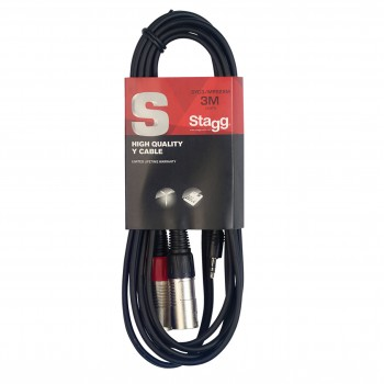 Stagg SYC3/MPS2XM 3m Y Cable