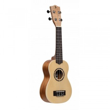 Stagg Spruce Traditional Soprano Ukulele with Nylon Bag